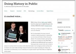 'Doing History In Public' does Cracked Voices!