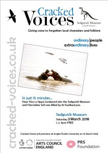Cracked Voices pop-up talk at the Sedgwick Museum (Cambridge), Saturday 3rd March 2018